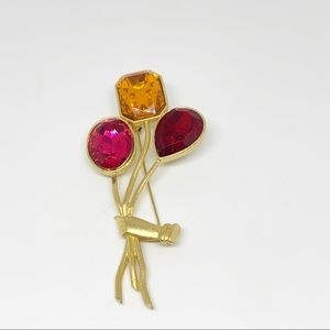 Sweet Gold Toned Balloon Inspired Brooch